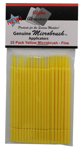 Brush - Micro - Fine - Yellow - 25 Pack