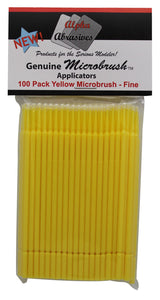 Brush - Micro - Fine - Yellow - 100 Pack