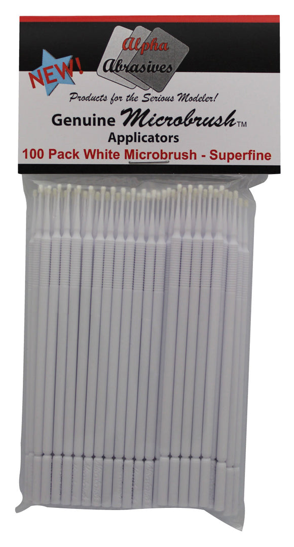 Brush - Micro - Superfine - White - 100 Pack