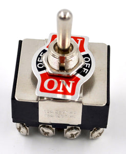 Switch - Heavy Duty Toggle - 4PDT  --  ON/OFF/ON