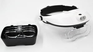 Magnifier - 2 LED Headband Illuminating