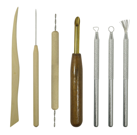 Tool Set - Pottery Sculpting Set - 7PC Double Sided