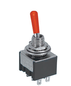 Mini DPDT Toggle Switch - (Momentary) Available