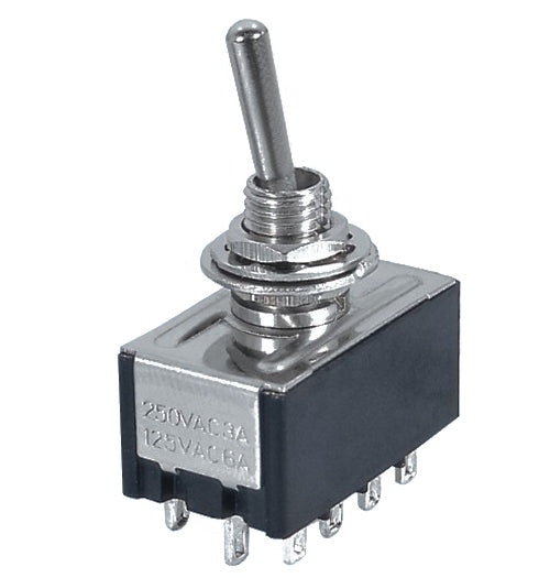 Mini Toggle Switch  4PDT  ON/ON