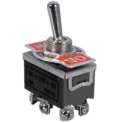 Medium Duty Toggle Switch  -  DPDT  --  ON/ON