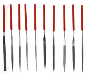10Pc Dipped Handle Diamond Needle File Set (2mmX100mmX 50mm)