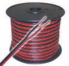 Zip Cord - Red and Black Heavy-Duty 10 -24AWG