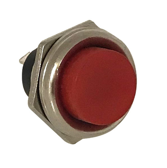 Push Button Switch - Red  -  MOM  - SPST OFF/(ON)