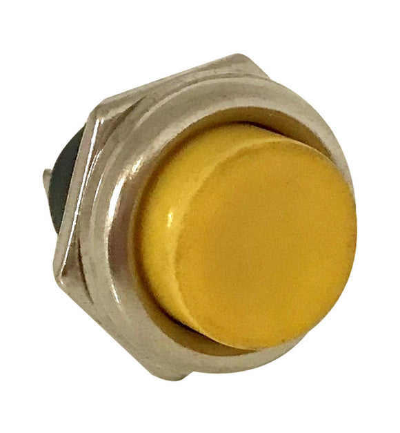 Push Button Switch - Yellow  -  MOM  -  SPST  --  ON/(OFF)