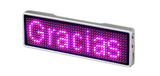 Bluetooth Badge - Pink LED Rechargeable