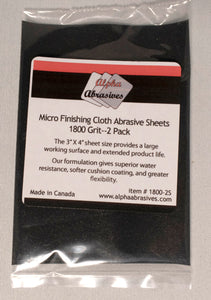 Finishing Cloth - Micro Abrasive Sheets - 1800 Grit