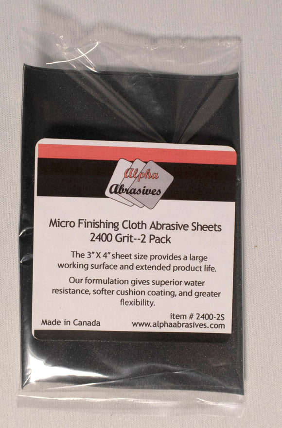 Finishing Cloth - Micro Abrasive Sheets - 2400 Grit