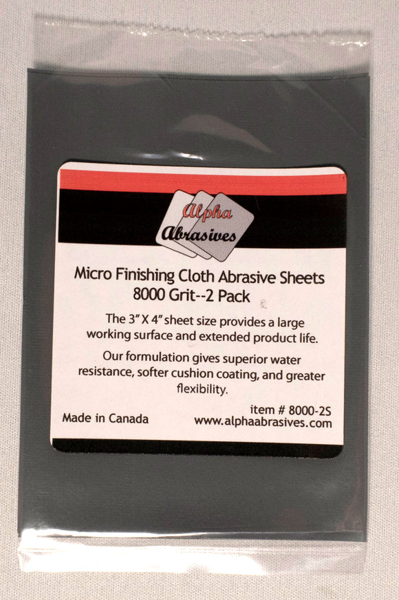 Finishing Cloth - Micro Abrasive Sheets - 8000 Grit