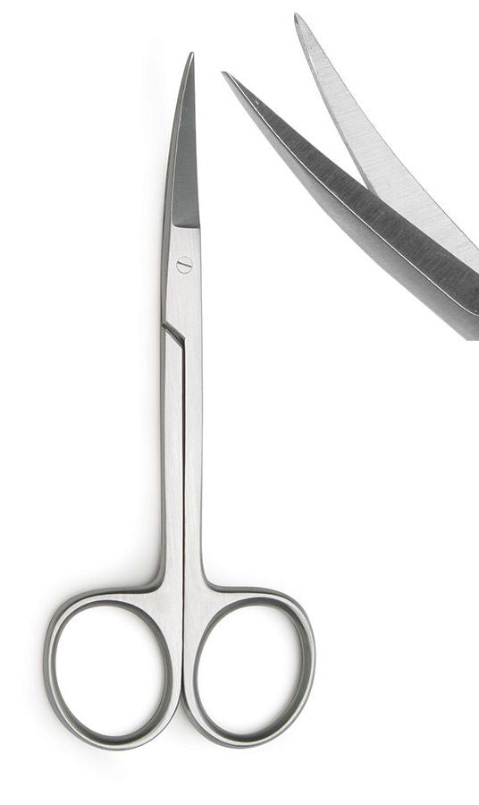 Scissor - Curved Stainless Steel Iris - 4.5