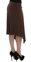 Brown Mini Pencil Stretch Skirt - ShaShaStyles