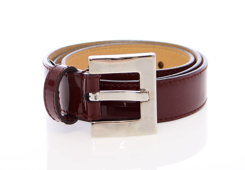 Red Leather Logo Belt