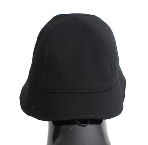 Black Wool Logo Womens Bucket Hat