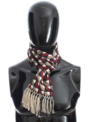 Multicolor Silk Cashmere Cotton Scarf