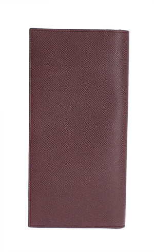 Bordeaux Dauphine Leather Bifold Document Holder