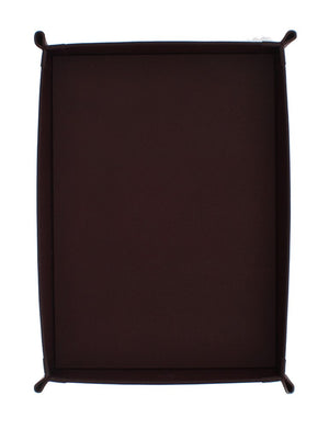 Bordeaux Leather Key Wallet Phone Card Money Tray Plate