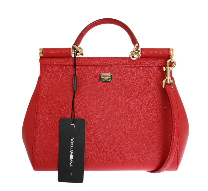 Red Leather Carretto Crystal SICILY Bag 14b9c2270f