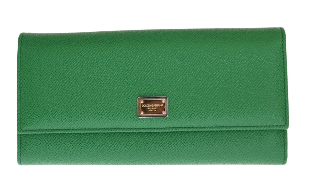 012077dd4c Green Dauphine Leather Clutch Bifold Wallet