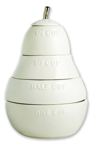 Rae Dunn White Pear Measuring Cups