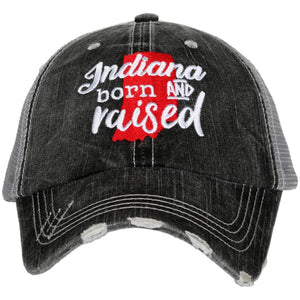 Indiana Born and Raised Trucker Hat