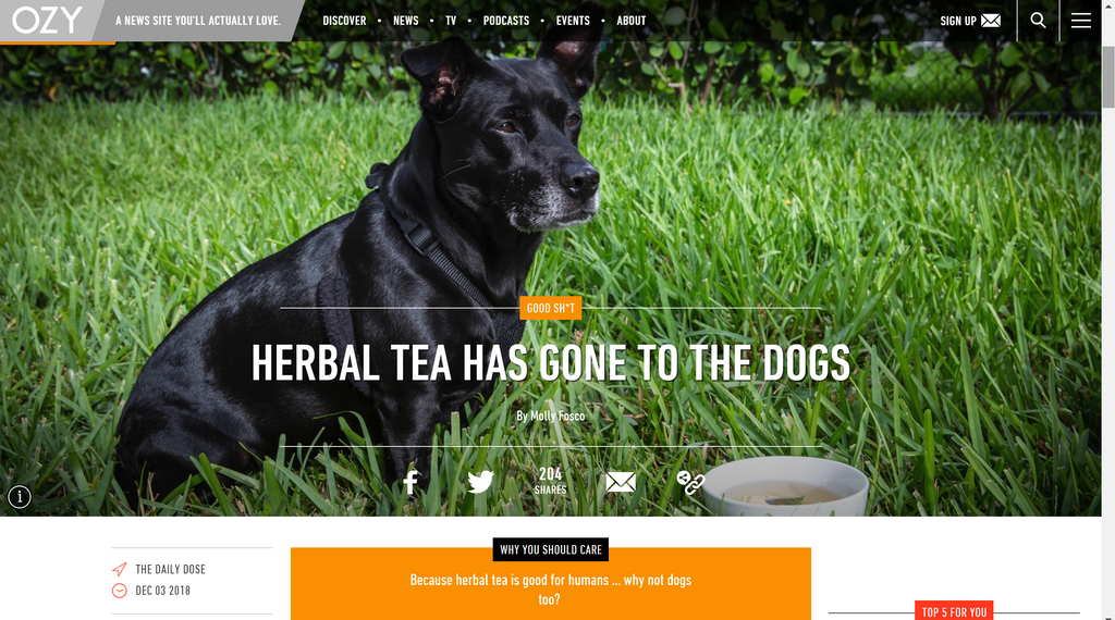 Herbal tea has gone to the dogs!
