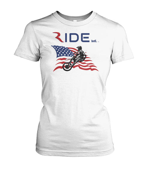 Moto X USA Women's heavy cotton fitted T – RIDE International Apparel