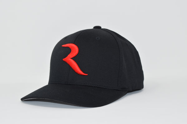 "The ""R"" Black Flex Hat – RIDE International Apparel"