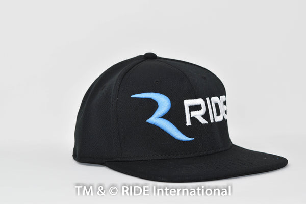 Classic Logo Black w/ baby blue R (Cool Comfort- Snap Back) Hat – RIDE International Apparel