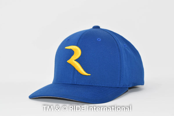 "Golden ""R"" Royal Blue Flex Hat – RIDE International Apparel"