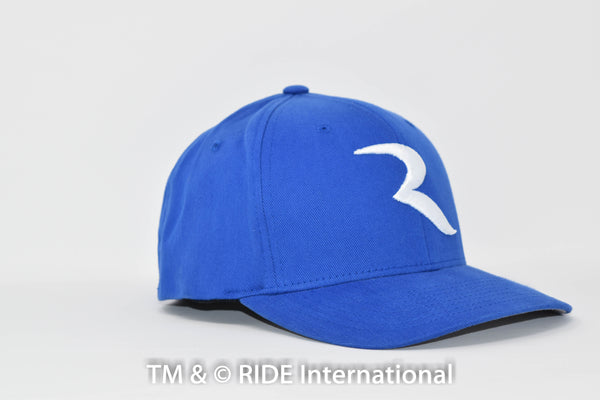 "White ""R"" Royal Blue Flex Hat – RIDE International Apparel"