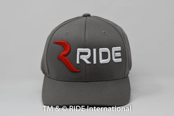 Classic Logo Grey Flex Hat – RIDE International Apparel