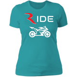 GP 1 Premium Women's Slimmer Premium T-Shirt – RIDE International Apparel