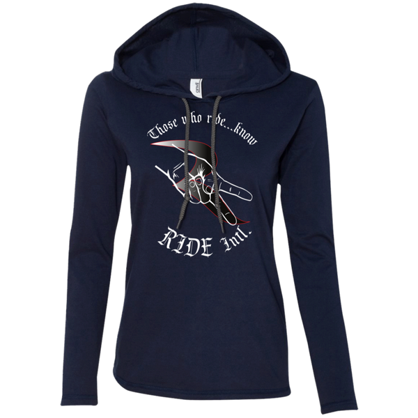Those Who Ride...Know Women's Slimmer Long Sleeve Lightweight Hoodie – RIDE International Apparel