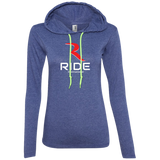 Original Logo Women's Premium Slimmer Long Sleeve Lightweight Hoodie – RIDE International Apparel