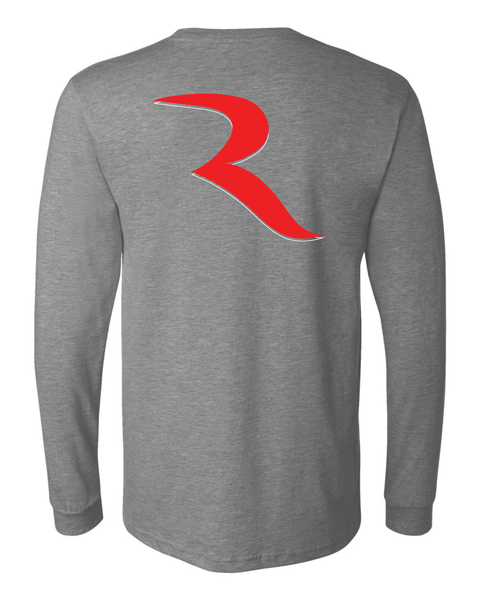 May The RIDE Be With You (2 Sided) Heathered Grey Premium Long Sleeve Shirt – RIDE International Apparel