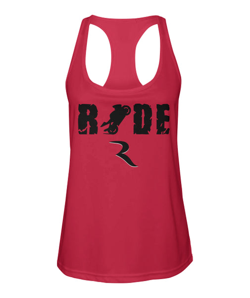 Wheels Up Women's Premium Racerback – RIDE International Apparel
