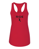 RIDE On Top Women's (2 Sided) Red Racerback Tank – RIDE International Apparel