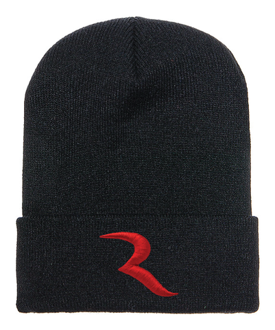 "Signature Red ""R"" Black Beanie – RIDE International"