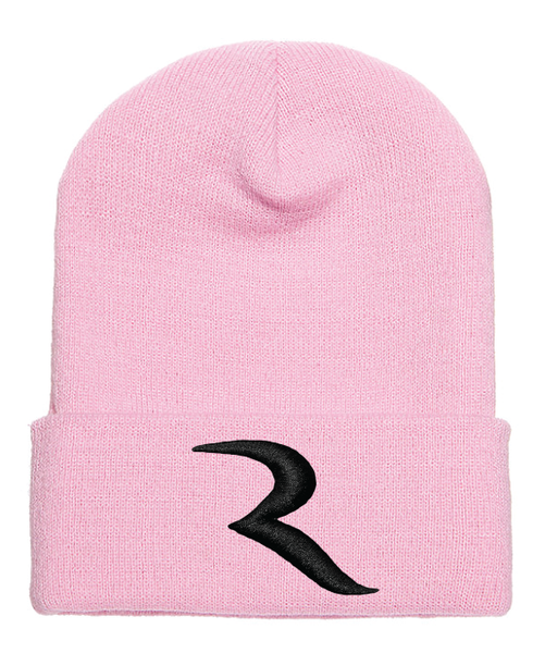 "Signature Black ""R"" Pink Beanie – RIDE International Apparel"