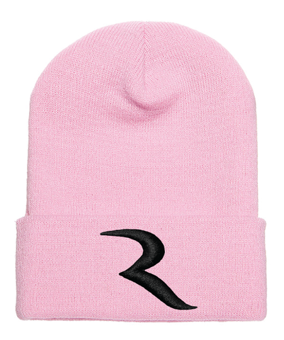 "Signature Black ""R"" Pink Beanie – RIDE International"