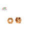 #PR91440020 - Wheel Hex Brass - 12mm x 5.2mm (2pcs)
