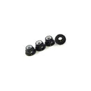 4MM Nylon Wheel Nuts, Serrated