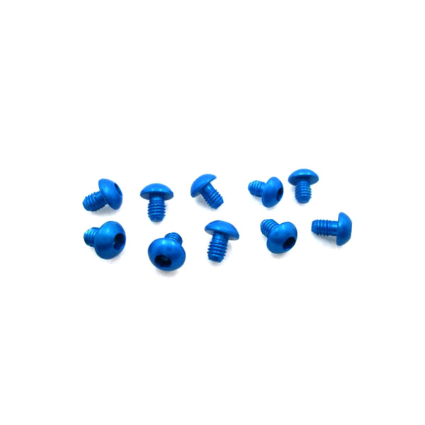 #ASS-304BB - TWORK's 7075-T6 Button Head Screw BLUE 3x4mm