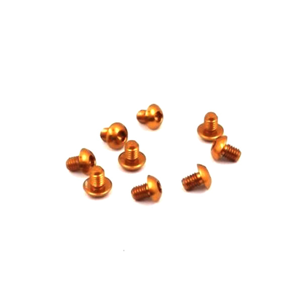 #ASS-304BO - TWORK's 7075-T6 Button Head Screw ORANGE 3x4mm