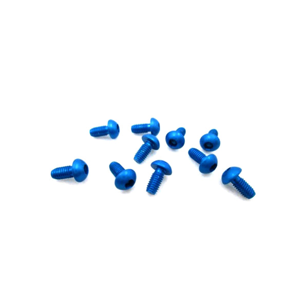 #ASS-306BB - TWORK's 7075-T6 Button Head Screw BLUE 3x6mm