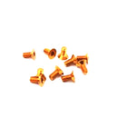 #ASS-306CO - TWORK's 7075-T6 Hex. Countersink Screw ORANGE 3x6mm